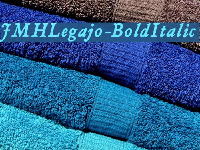 JMHLegajo-BoldItalic Font examples