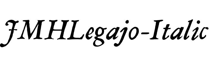 JMHLegajo-Italic  नि: शुल्क फ़ॉन्ट्स डाउनलोड