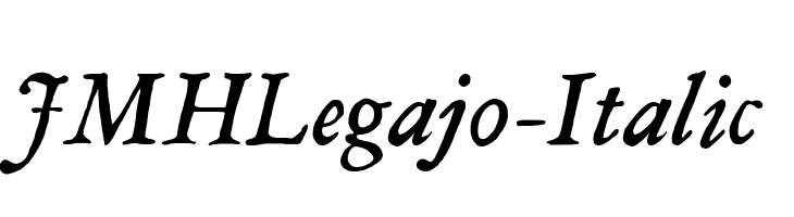 JMHLegajo-Italic  Free Fonts Download