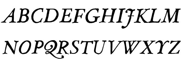 JMHLegajo-Italic फ़ॉन्ट अपरकेस