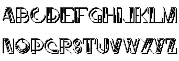 JMHLinartIICaps-Regular Font LOWERCASE