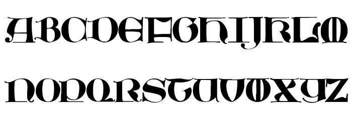JMHMoreneta-Regular Font UPPERCASE
