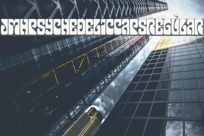 JMHPsychedelicCAPS-Regular Fonte examples