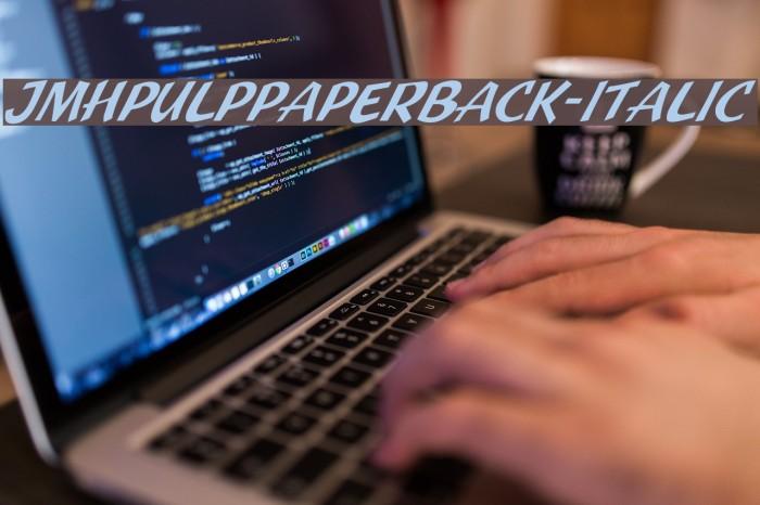 JMHPulpPaperback-Italic Fonte examples