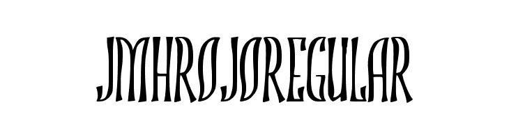 JMHROJO-Regular  لخطوط تنزيل