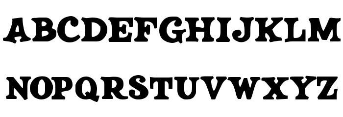 JMHSALOON-Regular फ़ॉन्ट अपरकेस