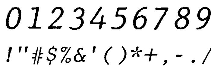 JMHTypewritermono-Italic फ़ॉन्ट अन्य घर का काम