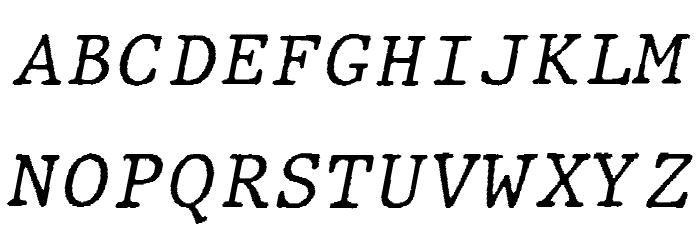 JMHTypewritermono-Italic फ़ॉन्ट अपरकेस