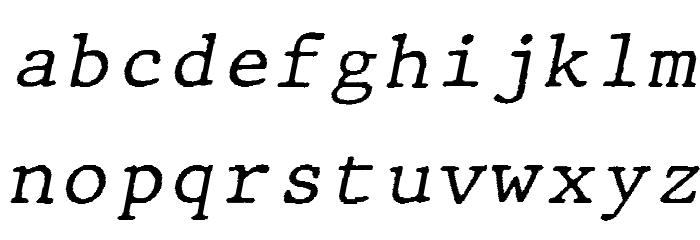JMHTypewritermono-Italic फ़ॉन्ट लोअरकेस
