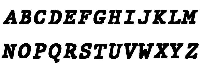 JMHTypewritermonoBlack-Italic फ़ॉन्ट अपरकेस