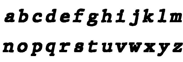 JMHTypewritermonoBlack-Italic फ़ॉन्ट लोअरकेस