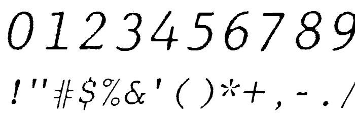 JMHTypewritermonoFine-Italic फ़ॉन्ट अन्य घर का काम