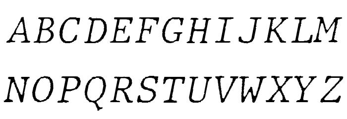 JMHTypewritermonoFine-Italic फ़ॉन्ट अपरकेस