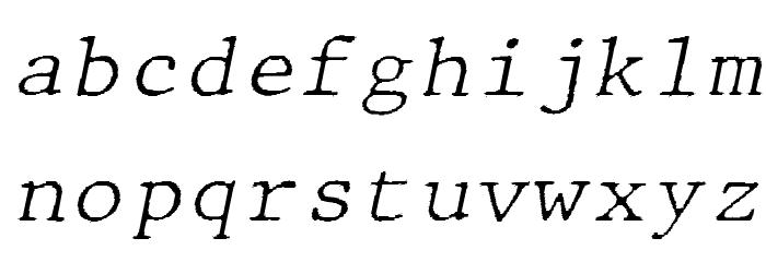 JMHTypewritermonoFine-Italic फ़ॉन्ट लोअरकेस
