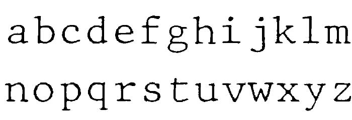 JMHTypewritermonoFine-Regular फ़ॉन्ट लोअरकेस