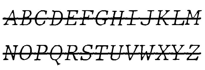 JMHTypewritermonoFineOver-Itali फ़ॉन्ट अपरकेस