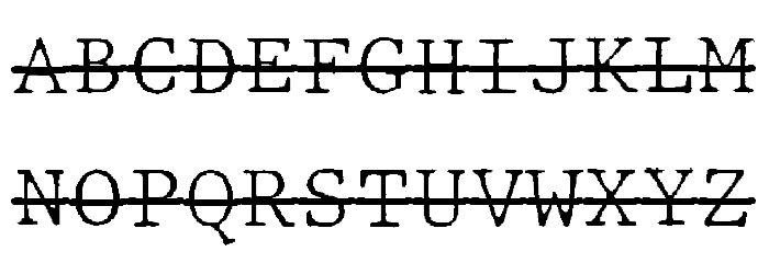 JMHTypewritermonoFineOver-Regul फ़ॉन्ट अपरकेस