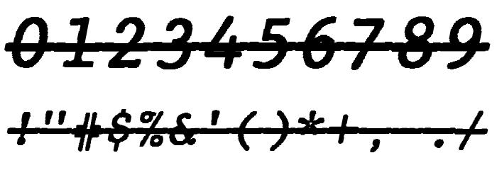 JMHTypewritermonoOver-Italic फ़ॉन्ट अन्य घर का काम