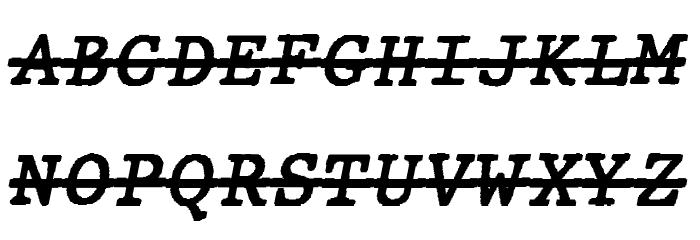 JMHTypewritermonoOver-Italic फ़ॉन्ट अपरकेस