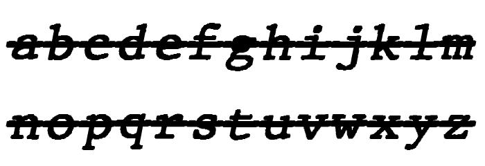 JMHTypewritermonoOver-Italic फ़ॉन्ट लोअरकेस