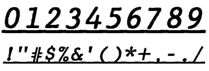 JMHTypewritermonoUnder-Italic फ़ॉन्ट अन्य घर का काम