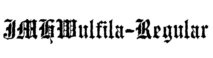 JMHWulfila-Regular  Free Fonts Download