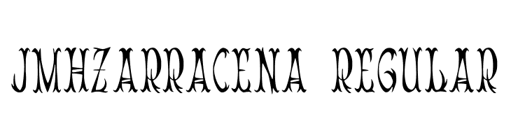 JMHZarracena-Regular  Free Fonts Download