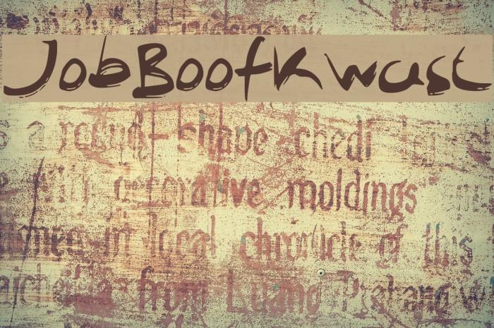JobBoofKwast Font examples