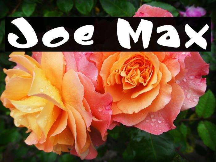 Joe Max Font examples