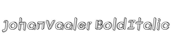 JohanVaaler BoldItalic  Free Fonts Download