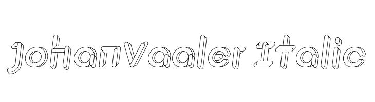 JohanVaaler Italic  Fuentes Gratis Descargar