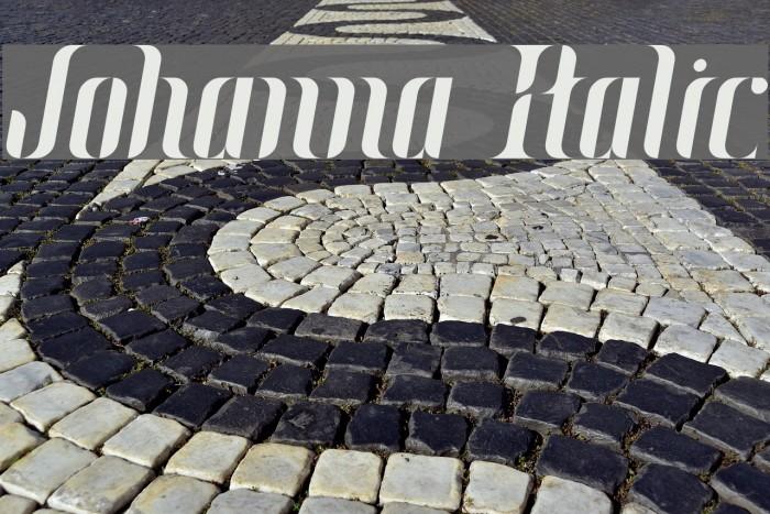 Johanna Italic Font examples