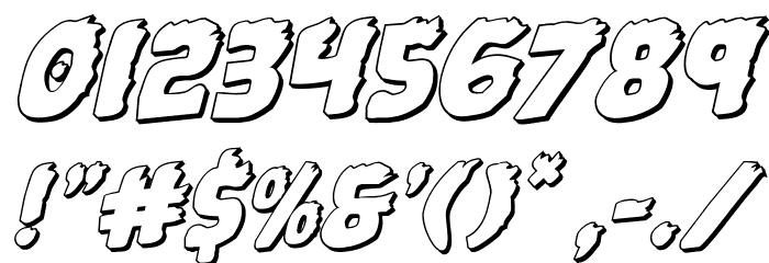 Johnny Torch 3D Rotalic Шрифта ДРУГИЕ символов