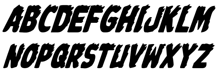 Johnny Torch Condensed Italic Font LOWERCASE