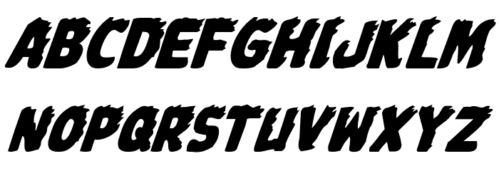 Johnny Torch Italic Font LOWERCASE