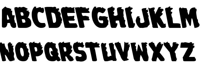 Johnny Torch Leftalic Font UPPERCASE