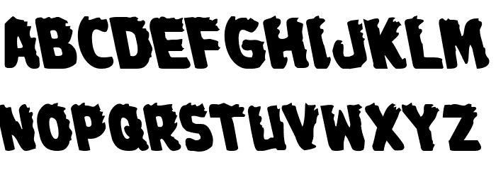 Johnny Torch Leftalic Font LOWERCASE