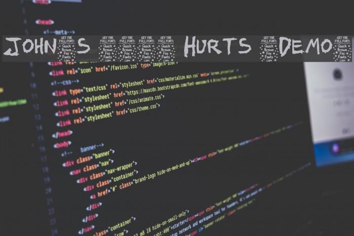 John's 1000 Hurts [Demo] Font examples