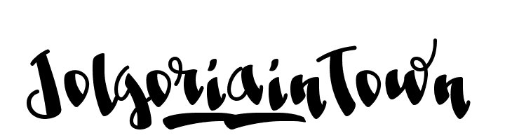 Jolgoria_in_Town  Free Fonts Download