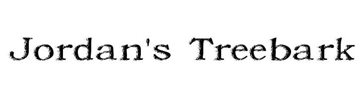 Jordan's Treebark  नि: शुल्क फ़ॉन्ट्स डाउनलोड