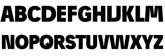 JosefProBold-Blackreduced Font UPPERCASE