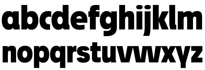 JosefProBold-Blackreduced Font LOWERCASE
