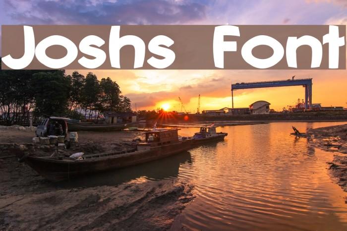 Joshs Font Font examples