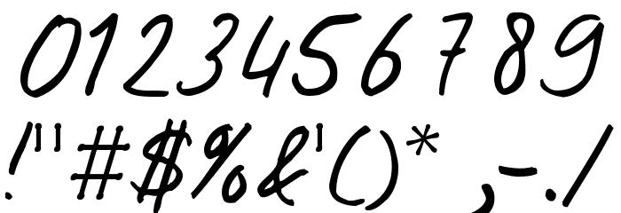 Josschrift フォント その他の文字