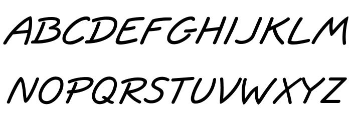 JottFLF-BoldItalic Font Litere mari
