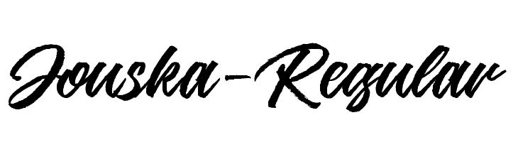 Jouska-Regular  フリーフォントのダウンロード