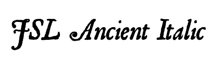 JSL Ancient Italic  baixar fontes gratis