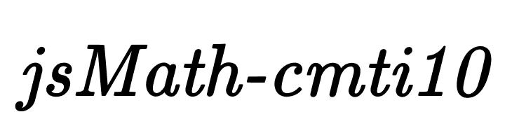 jsMath-cmti10  Free Fonts Download
