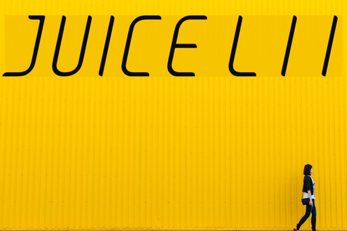 JUICE Light Italic Italic Font examples