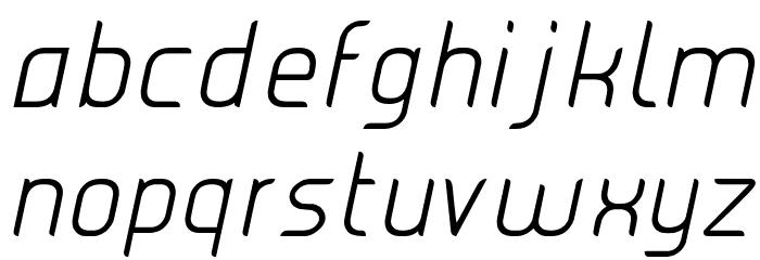 JUICE Light Italic Italic Font LOWERCASE